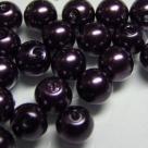 #05 20 Stück - 8,0 mm Glaswachsperlen - purple