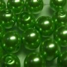 #10 20 Stück - 10,0 mm Glaswachsperlen - lt green
