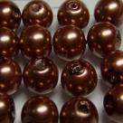 #13 20 Stück - 10,0 mm Glaswachsperlen - light brown