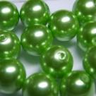 #10 20 Stück - 12,0 mm Glaswachsperlen - light green