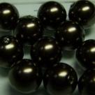 #11 20 Stück - 12,0 mm Glaswachsperlen - dark brown