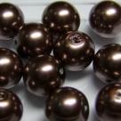 #12 20 Stück - 12,0 mm Glaswachsperlen - brown