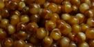 #32 50 Stück Perlen rund - Opak Topaz marmoriert - Ø 4 mm