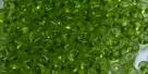 #71 10g Preciosa® TwinBeads tr. olivine