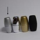 Power-Magnetverschluss - 31x17 mm rhodiumfarben matt Innen Ø 10mm