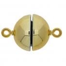 1 Neumann-Kugel-Magnet-Verschluss Ø 12 mm  Acryl Gold