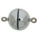 1 Neumann-Kugel-Magnet-Verschluss Ø 12 mm  Acryl Rhodium
