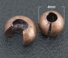 10 Stück Klappkugel ø 4 mm - antik copper - glatt