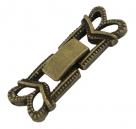 Fold Over Uhrenverschluss - 27x9,5 mm antik bronze