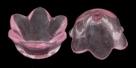 #04.01a - 10 Acrylblüten transp. Ø 10mm pink