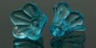 #29.02 - 1 Acrylblüte transp. Ø 14x10 mm türkis