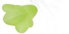 #29.07 - 1 Acrylblüte transp.-matt Ø 14x10 mm limegreen