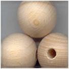 5 Stück Holzkugeln ca. 25 mm