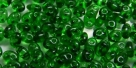 #80 10g Preciosa® TwinBeads tr. emerald
