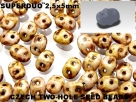 #52 10g SuperDuo-Beads opak white dark travertin