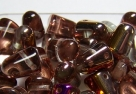 #04 - 10 Stck. Gum-Bead 7x10mm - crystal slipterit