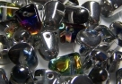 #01 - 10 Stck. Gum-Bead 7x10mm - crystal AB half labrador