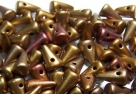 #04 - 20 Stck. Baby-Spike-Bead 4*7mm - opak jet gold iris matt