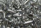 #05 - 20 Stck. Baby-Spike-Bead 4*7mm - opak jet silver matt