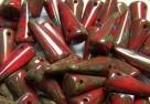 #07 - 10 Stck. Spike-Bead 5x13mm - Opak Coral Travertin