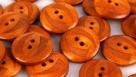 10 Holzknöpfe  32 Ø 20mm orange