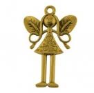 1 kleine Elfe 25x15x2 mm - Antique Golden