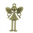 1 kleine Elfe 25x15x2 mm - Antique Bronze 1