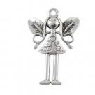1 kleine Elfe 25x15x2 mm - Antique Silver 1