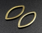 20 Stück Messing-Ringe 12x6 mm