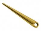 1 Metall-Spike/Dorn 34x5 mm - Antique Golden