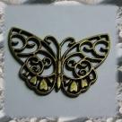 1 Schmetterling 38x28 mm - antikbronze