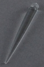 #40 - 1 Acrylspike transp. 52x6mm clear