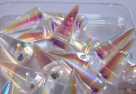 #06 - 10 Stck. Spike-Bead 7x17mm - crystal AB