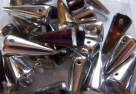 #07 - 10 Stck. Spike-Bead 7x17mm - crystal AB half labrador