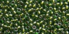 10 g TOHO Seed Beads 11/0 TR-11-1007 - Silver-Lined Luster Olive (E)