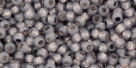 10 g TOHO Seed Beads 11/0 TR-11-PF2115 - PermaFinish - Opalin Black Diamond Silver-Lined (A,C,D)