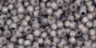 10 g TOHO Seed Beads 11/0 TR-11-PF2115 - PermaFinish - Opalin Black Diamond Silver-Lined (A,C,D)