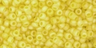 10 g TOHO Seed Beads 11/0 TR-11-0175 F - Tr.-Rainbow-Frosted Lemon