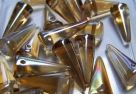 #19 - 10 Stck. Spike-Bead 7x17mm - tr. topaz celsian