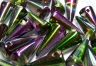 #17 - 10 Stck. Spike-Bead 7x17mm - magic color violett green