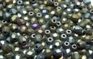 #15.5 50 Stück - 3,0 mm Glasschliffperlen - Iris hematit matt