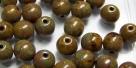 #03.00 25 Stück Perlen rund - opak yellow travertin - Ø 6 mm
