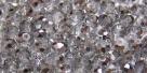 25 facetierte Rondelle 3*4mm crystal half silver