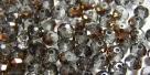 25 facetierte Rondelle 3*4mm black diamond half copper