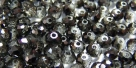 25 facetierte Rondelle 3*4mm crystal metallic black