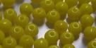 #07d 50 Stück Perlen rund - opak gelb - Ø 4 mm