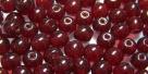 #03a 50 Stück Perlen rund Ø 5 mm - tr. ruby