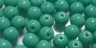 #05 50 Stück Perlen rund Ø 5 mm - opak türkis