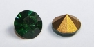 13 - 1 Stück Preciosa® OPTIMA Chaton SS39 (8mm) green turmaline