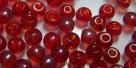 #47 50 Stück Perlen rund - tr. lt siam hem. coating - Ø 4 mm